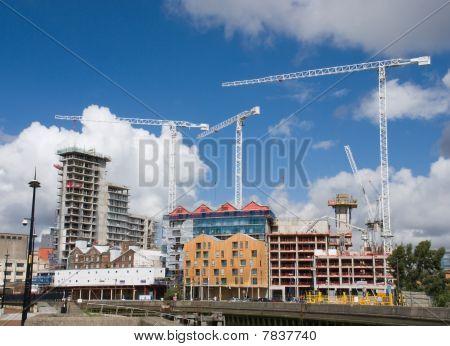 Building Site. Ipswich Waterfront, Suffolk, United Kingdom.