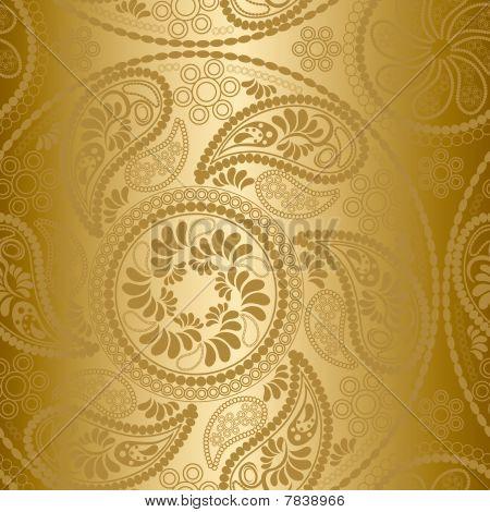 Seamless gold mandala pattern