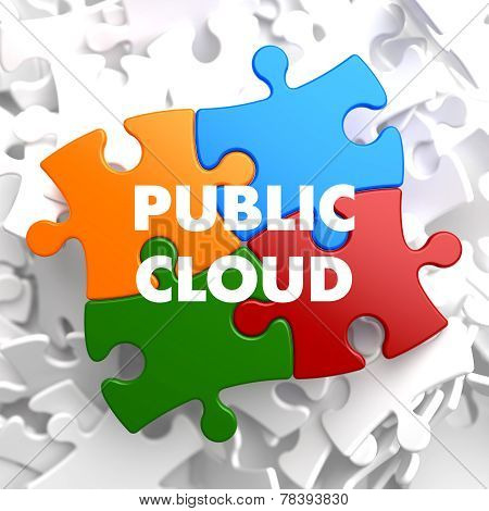 Public Cloud on Multicolor Puzzle.