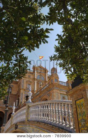 Plaza De Espana In Sevilla, Spanien