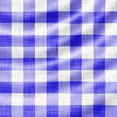 illustration of digitally made wavy blue picnic cloth poster