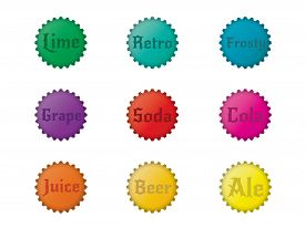 Set of 9 Vintage Bottlecaps