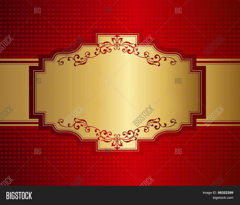 Elegant Red Gold Image Photo Free Trial Bigstock