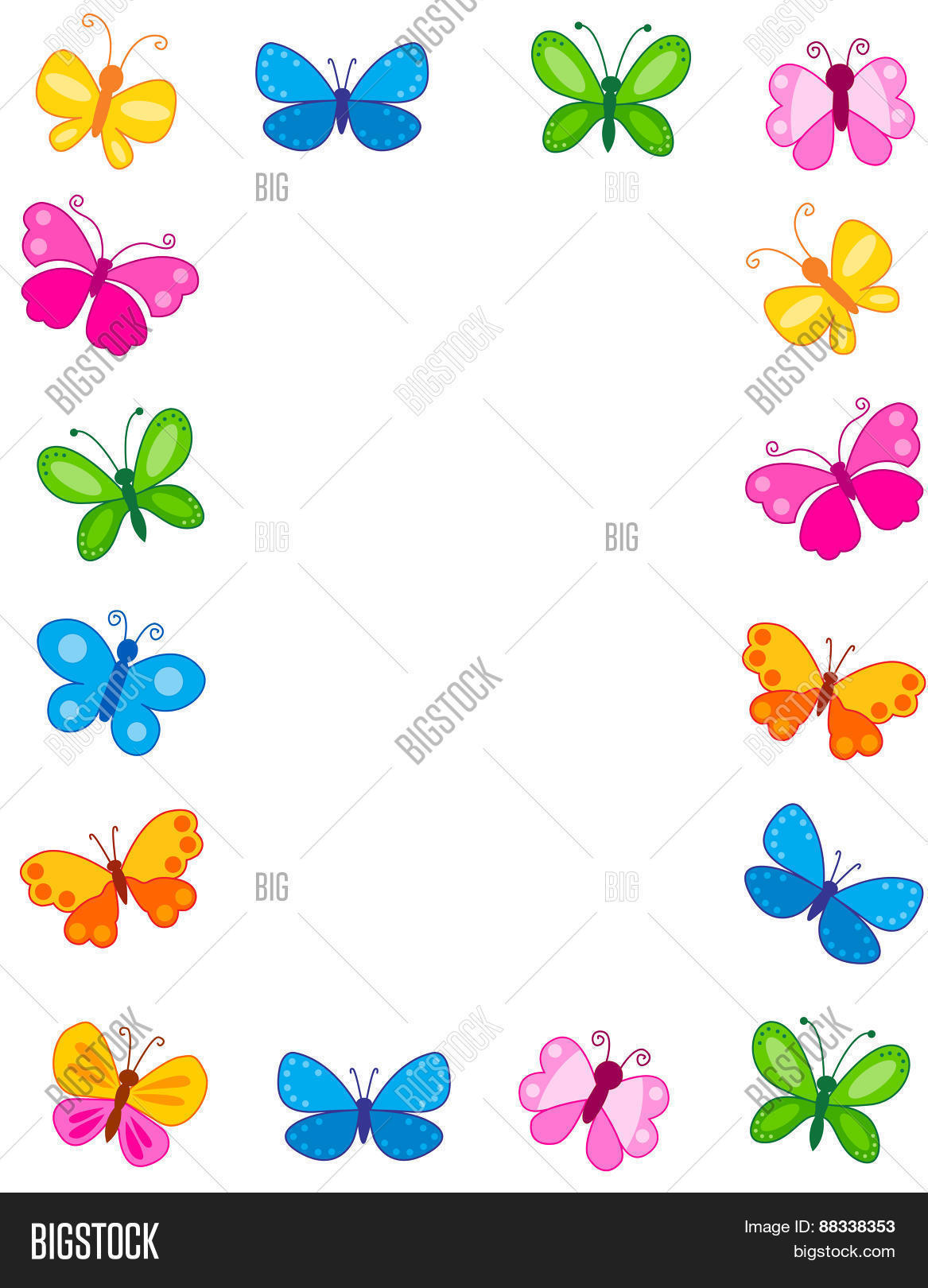 Butterfly Frame / Image & Photo (Free Trial) | Bigstock