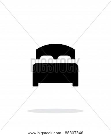 Full bed simple icon on white background.