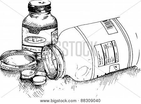 Bottles of pills