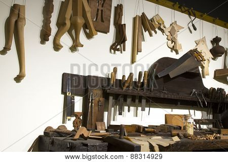 Clockmaker Tools And Workbench