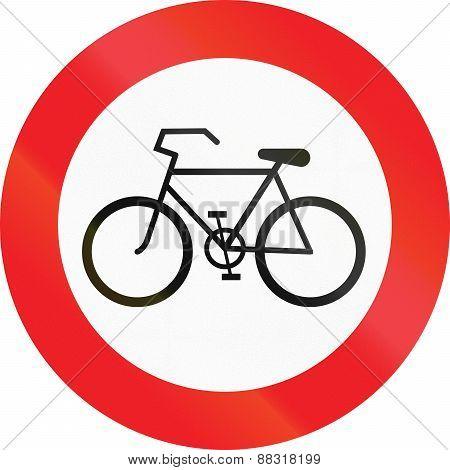 No Bicycles In Austria