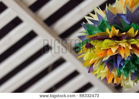 Colorful Interior Pom Poms