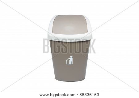 Recycle Bin Isolated Over White Background.