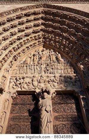 Portal of the Last Judgement Notre Dame de Paris poster