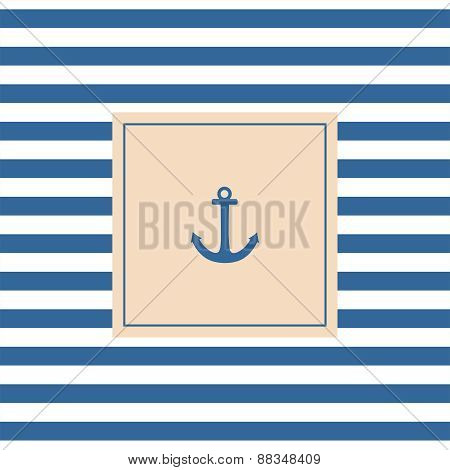 Sailor vector card with anchor