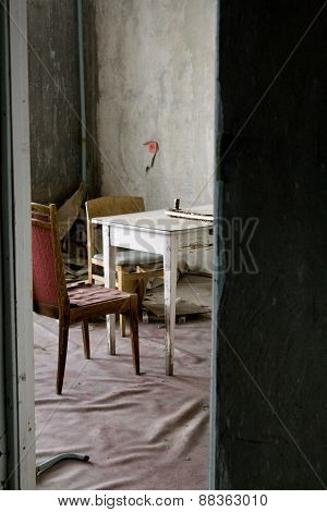 The Interior Of One Of The Apartments In Multistory Abandoned In Pripyat Ghost Town, Chernobyl Nucle