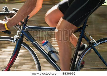 Man Doing Exercise In Bike