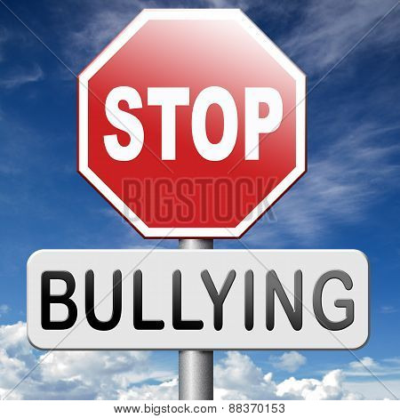 stop bullying no bullies prevention against school work or in the cyber internet harassment poster