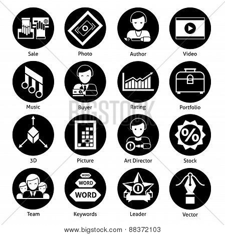 Stock Icons Black