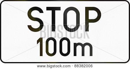Stop 100 Meters Ahead In Austria