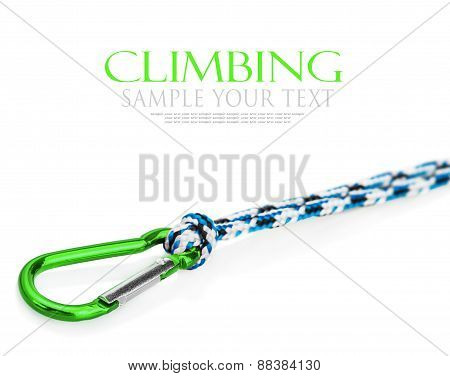 Carabiner And Rope Climbing Equipment