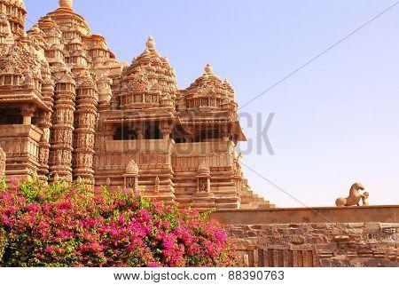 Devi Jagdambi Temple, Western Temples in Khajuraho, Madya Pradesh, India. Unesco World Heritage Site poster