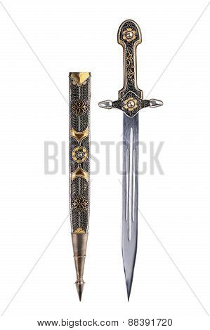 Ancient Saber With Scabbard
