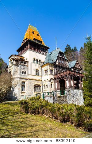Pelisor castle summer residence in Sinaia, Romania, part of the same complex as the larger castle of Peles poster