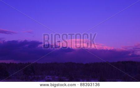 Beautiful clouds at sunset, like a mountain