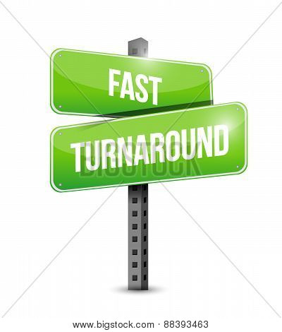 Fast Turnaround Street Sign Illustration Design