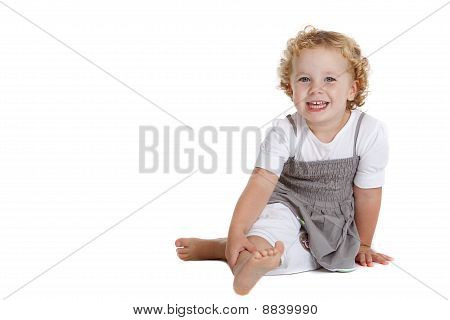 Cute Three Year Old Laughing