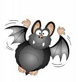 Halloween cartoon vampire bat isolated on white background poster