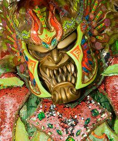 Monster Mask In Carnival Of Santo Domingo