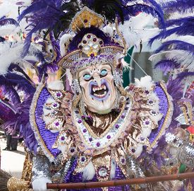 Horror Disguise/mask In The Carnival Of Santo Domingo
