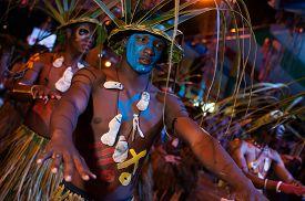 Dancers In The Carnival Parade Of Santo Domingo