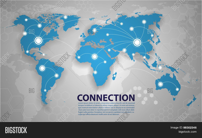 Vector world map connection vector photo bigstock vector world map connection gumiabroncs Gallery
