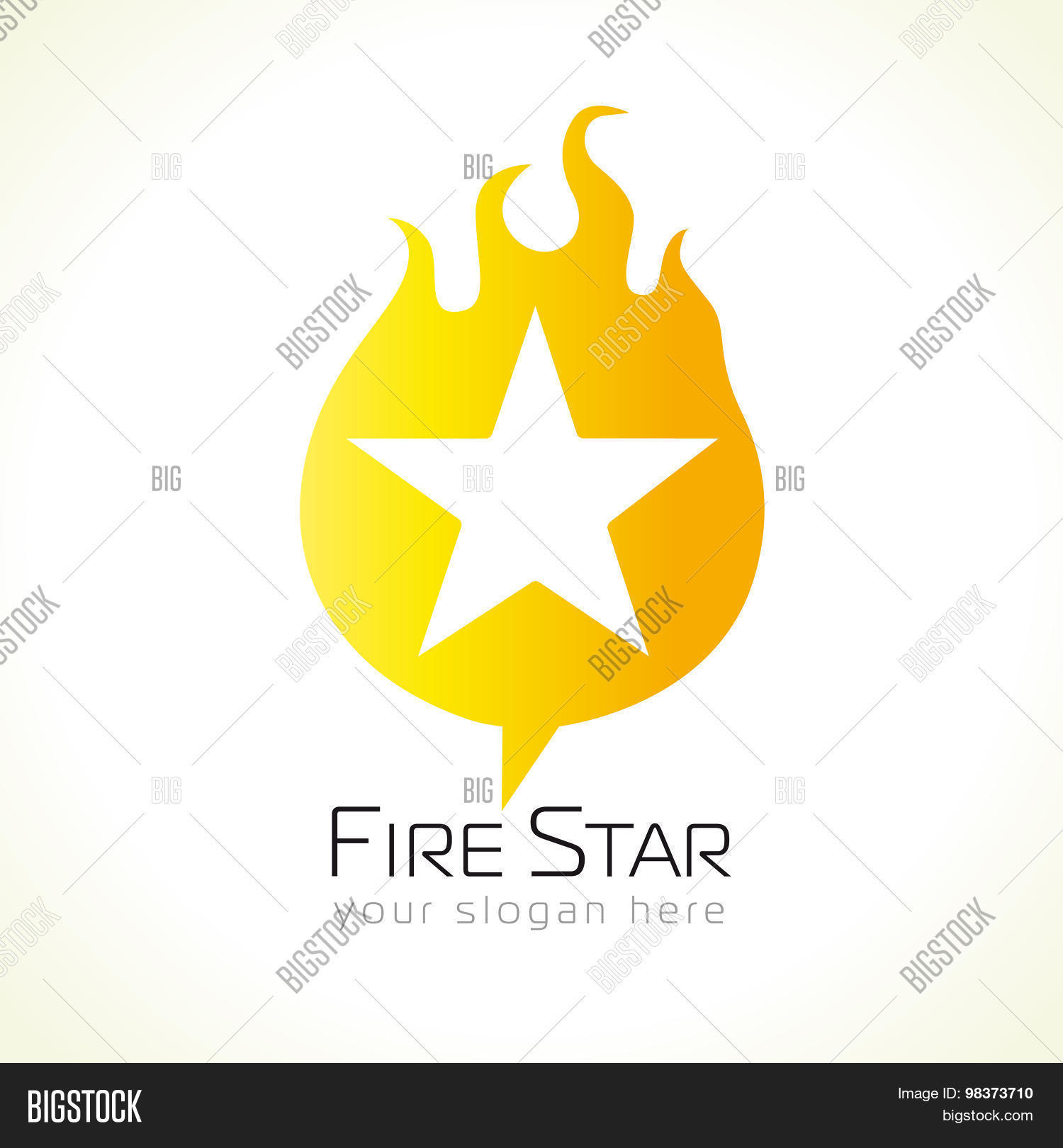 Star Logo Flames Vector Photo Free Trial Bigstock