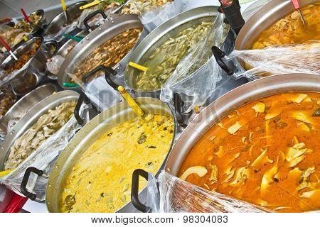 detail of Yummy street food in Bangkok Thailand