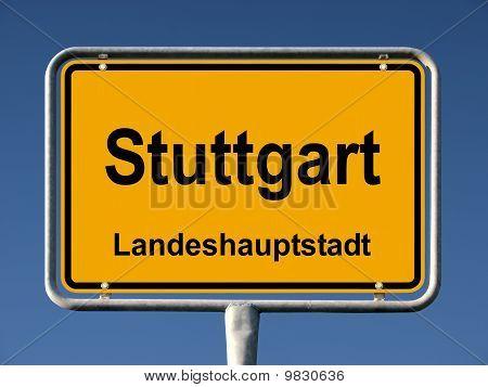 Common city sign of Stuttgart, Germany