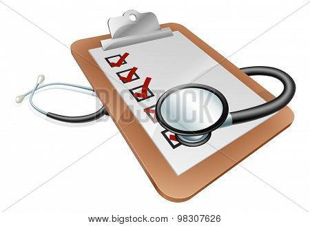 Stethoscope Clipboard Concept