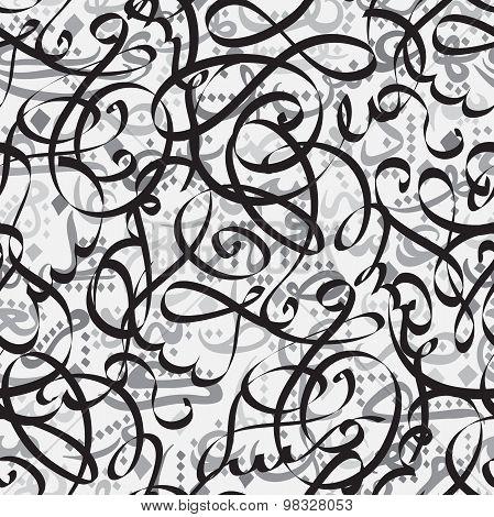 Seamless pattern with Arabic calligraphy Eid mubarak. Ornament for greeting card - beautiful backgro