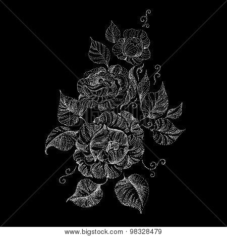 Beautiful Graphically Drawing Peony