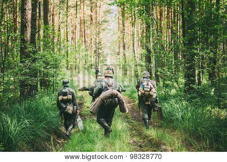 Unidentified re-enactors dressed as German soldiers during event