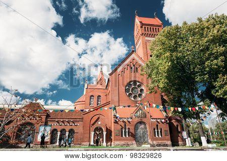 Red Church Catholic Church Of Saints Simon And Helen