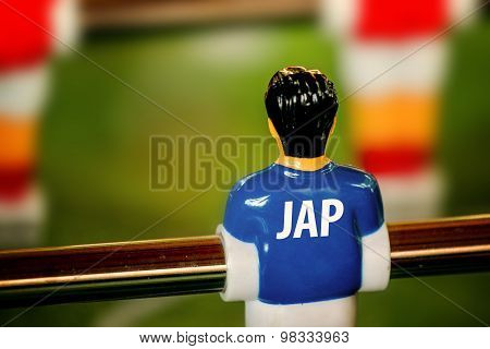 Japan National Jersey On Vintage Foosball, Table Soccer Game