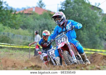 Motocross In Valdesoto, Spain.