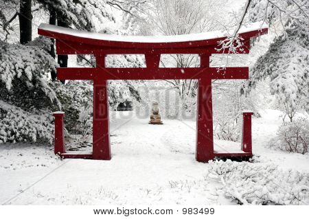 Winter Chinese Garden