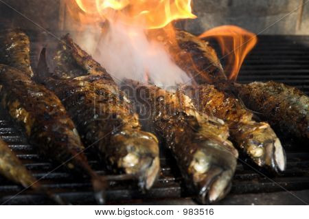 Fish Barbecue - Fish On Fire