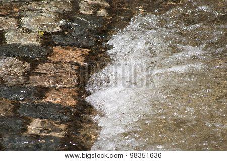 Rushing stream in spring