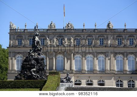 Closeup Of The Facade Of Castle Herrenchiemsee, Bavaria