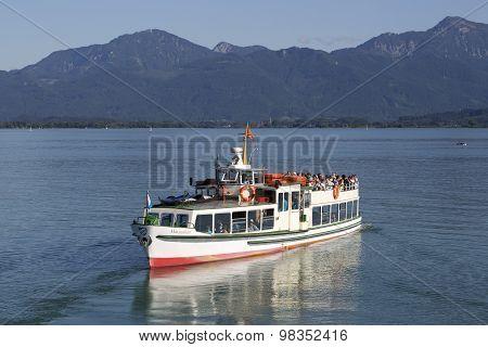 Visitors On A Steamship At Lake Chiemsee, Bavaria