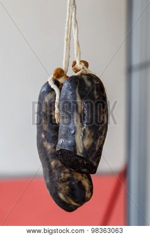 Typical Spanish Morcilla, Blood Sausage