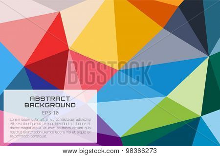 Abstract background vector wallpaper. Triangle, color lines, pattern, geometric, art, technology wallpaper, technology background. Stock vectors illustration